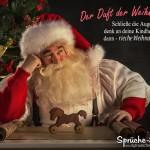 Weihnachtsmann denkt über früher nach