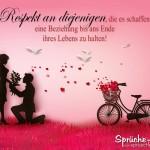 Schöner Spruch mit Bild über lange Beziehungen