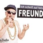 Spruch mit Opa: Ich scheiß auf falsche Freunde!
