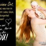 Liebe, Glück, Wärme, Geborgenheit und Vertrauen Spruchbild