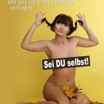 Schöner Spruch mit nackter Frau über Selbstvertrauen