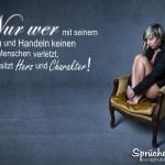 Trauernde Frau sitzt einsam auf Sessel
