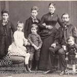 Spruchbild für Familien aus dem frühen 20. Jahrhundert