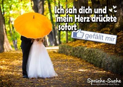 Liebe und Hochzeit, Sprüche & Bilder - Dein Herz gefällt mir
