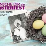 Schöne nostalgische Karte zum Osterfest