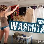 Waschtag Spruchbild