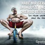Dreirad - Lustige Sprüche über das Leben