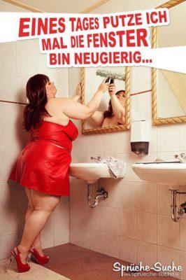 Lustige Sprüche Bad putzen - sexy Spruchbild