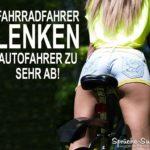 Fahrradfahrer Autofahrer - sexy Hintern Sprüche