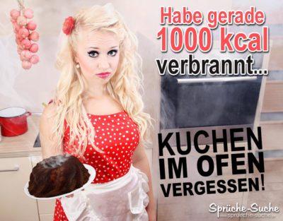Ganz schnell viele KALORIEN VERENNEN - Kuchen im Ofen vergessen...