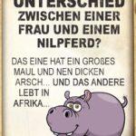 Witz: Was ist der Unterschied zwischen einer Frau und einem Nilpferd - Witz