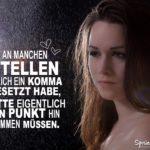 Beziehung Sprüche Trennung - Frau im Regen