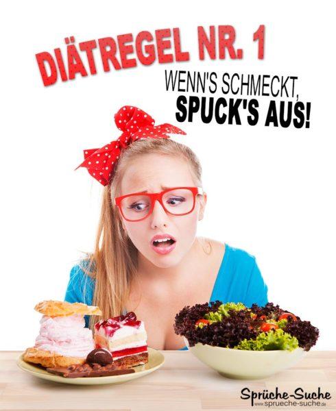 Diät Regel - Lustiger Spruch abnehmen