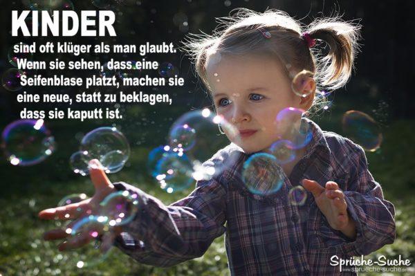 Kinder und Seifenblasen   Spruch zum Nachdenken ♥