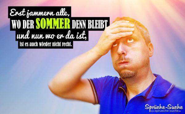 Sommer Sprüche Hitze - Mann schwitzt