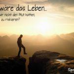 Spruch zum Nachdenken - Mann bei Sonnenaufgang in der Sächsischen Schweiz