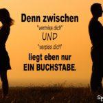 Wut Beziehung Spruch mit Frau & Mann mit dem Rücken zueinander