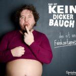 Dicker Bauch - Mann isst Schokolade - Lustige Sprüche