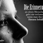 Erinnerung - Schöne Sprüche zum Abschied, Trauer und Tod - Frau mit Tränen im Gesicht