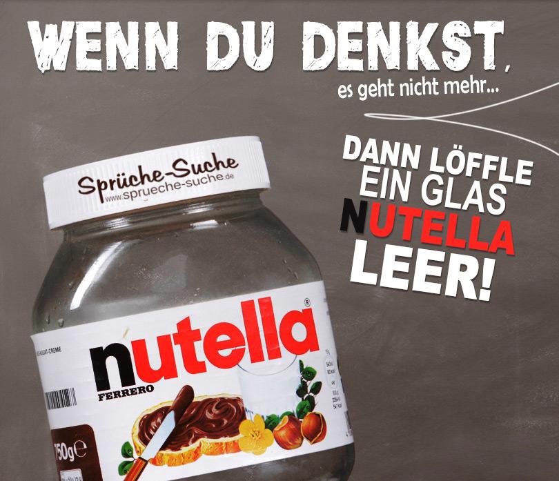 Glas Nutella Mit Lustigem Spruch Sprüche Suche