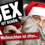 Lustige Sprüche wenig Sex Weihnachten - verdutzter Weihnachtsmann