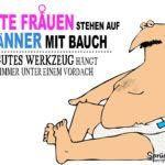 Mann in Unterwäsche - Dicker Bauch witziger Spruch mit Bild