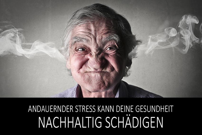 Andauernder Stress kann deine Gesundheit nachhaltig schädigen