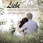 Liebesspruch - Vergleich mit gutem Essen - Eheppar im Gras