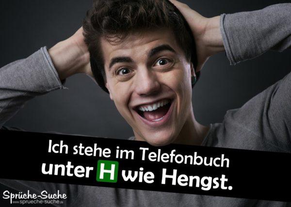 Lustiger Anmachspruch - Telefonbuch Hengst