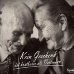 Vertrauen Sprüche - Altes Ehepaar