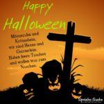 Spruchbild zu Halloween mit Spruch für Kinder