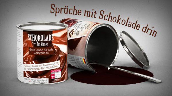 Schöne Sprüche über Schokolade