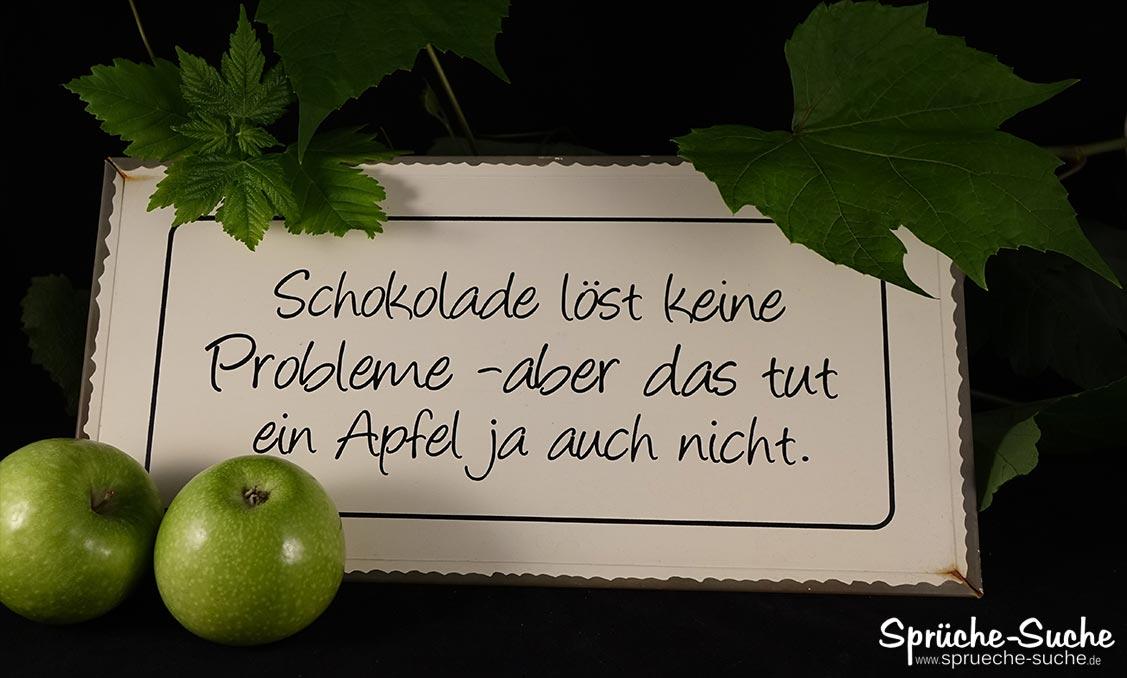 Apfel vs Schokolade Spruch   Sprüche Suche