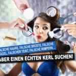 Falsche Brüste - Frauen Sprüche