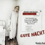 Irrenanstalt Horror-Gute Nacht Sprüche