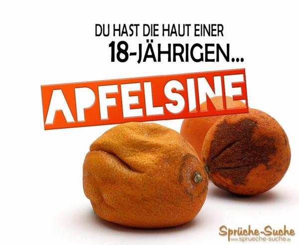 Lustiger Spruch Cellulite - Orangenhaut
