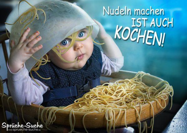 Lustiger Spruch kochen mit Baby