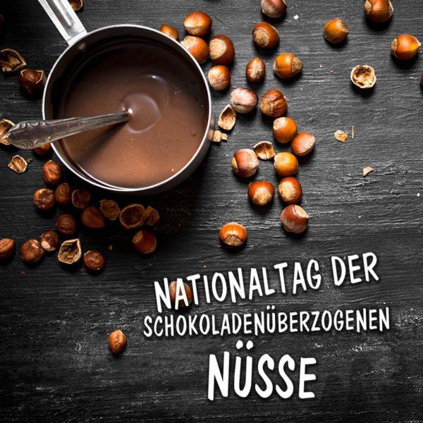 Nationaltag der schokoladenüberzogenen Nüsse