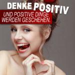 Bei der Partnersuche Positiv denken - Frau formt Herz mit den Händen