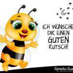 Guten Rutsch Silvester Spruch mit Biene