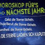 Horoskop - Lustiger Spruch für Singles zu Silvester