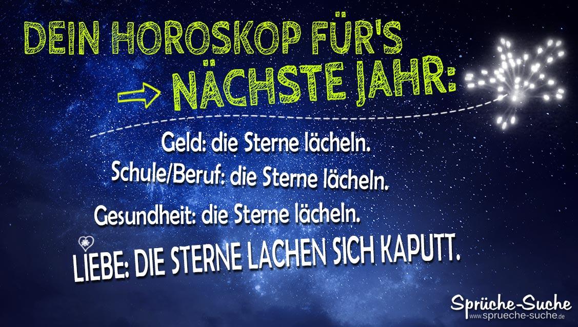Horoskop   Lustiger Spruch für Singles zu Silvester   Sprüche Suche