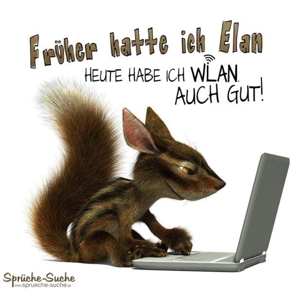 Lustiger WLAN Spruch mit Streifenhörnchen
