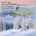 365 neue Tage - Schöner Spruch für Silvester