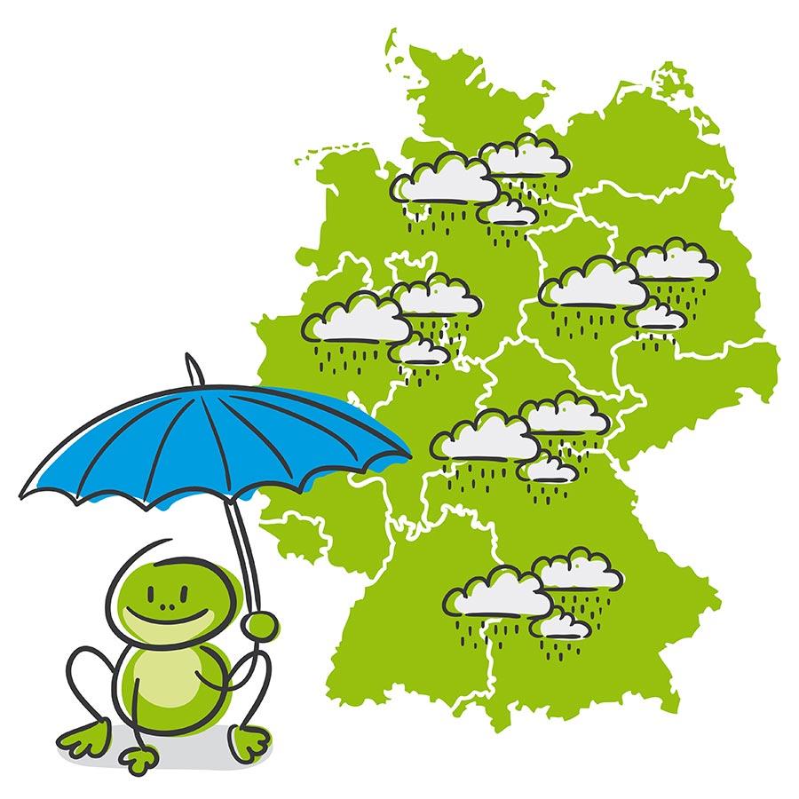 Wetterkarte Deutschland Regen