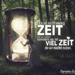 Sanduhr im Zauberwald - Zeit - Sprüche zum Nachdenken