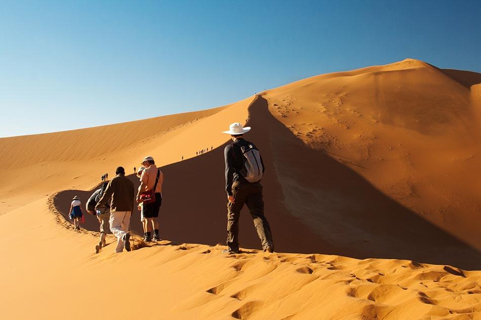 Fremdenführer in der Wüste