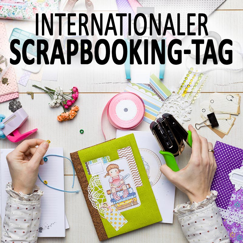 Internationaler Scrapbooking-Tag
