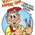 Elektriker Spruch - Volt, Watt, Ampere, Ohm