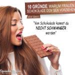 Warum Schokolade besser als Sex ist - nicht schwanger werden